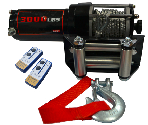 Atv Winch [ Winch Rope ] 12V 3000LBS/1361KGS Electric Winch Synthetic Rope 10Meter Wireless ATV 4WD