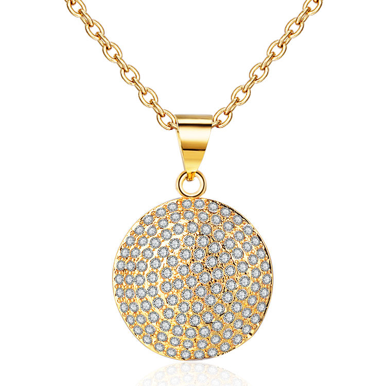 2019 Fashion Zircon 18K Chian Gold Plated Women Necklace Jewelry for Woman