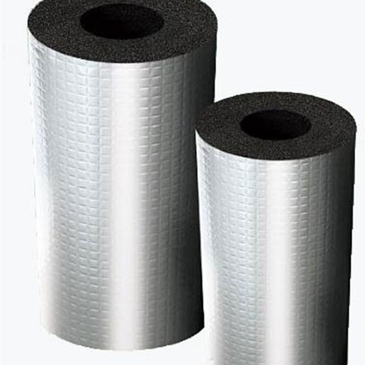 Fsk الألومنيوم احباط المدعومة الحرارة العزل العزل رغوة المطاط أنابيب معزول الألومنيوم احباط غطاء المطاط أنبوب