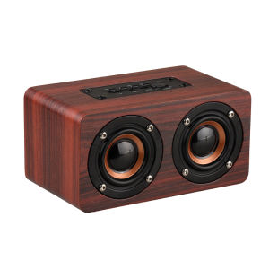 Factory Price Super Bass Vintage Classic Wireless Wooden Computer Mobile Portable Mini Retro Wood Bluetooth Speaker