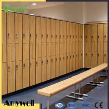 Amywell wholesale phenolic compact laminate wood grain HPL lockers