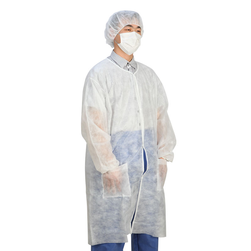 Non Woven Disposable Visitor Hospital Uniform Lab Coat