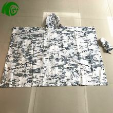 new cheap military Camouflage poncho raincoat