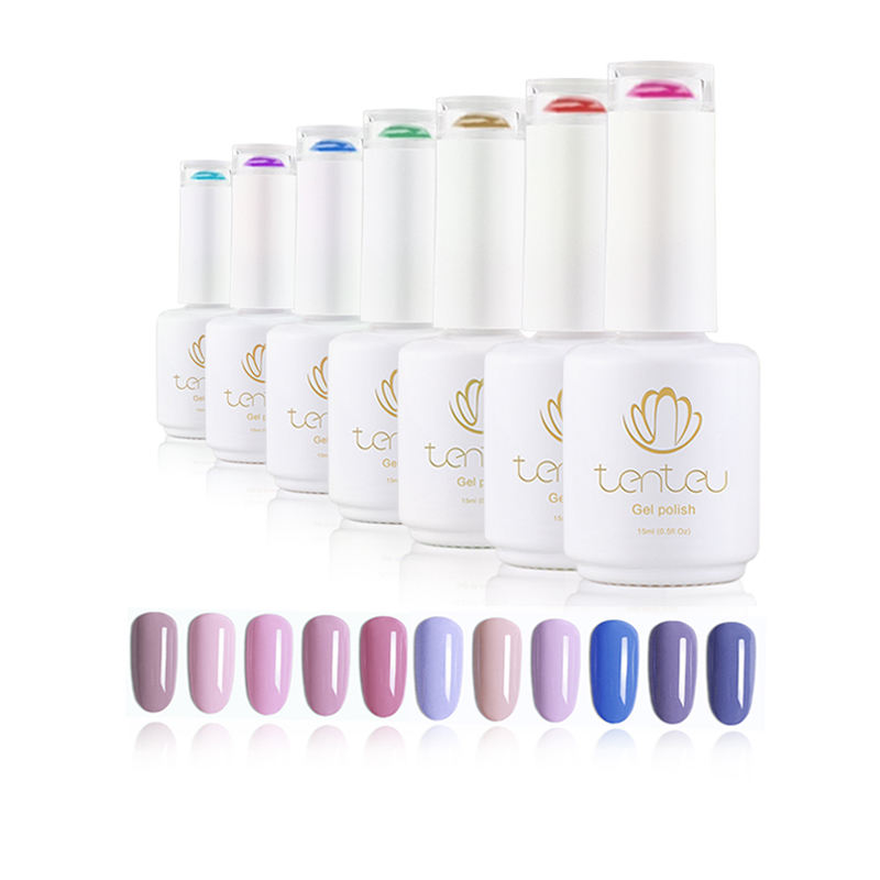 Custom designs non toxic private label salon color uv / led polish nail gel For Salon