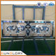 china Golden Supplier Triple Glazed Panel Stained Glass Door Design