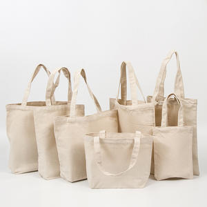 Free Sample Blank White Black Natural Custom Color Logo Heavy Duty Eco Recycled 12oz Shopping Tote Cotton Canvas Bag