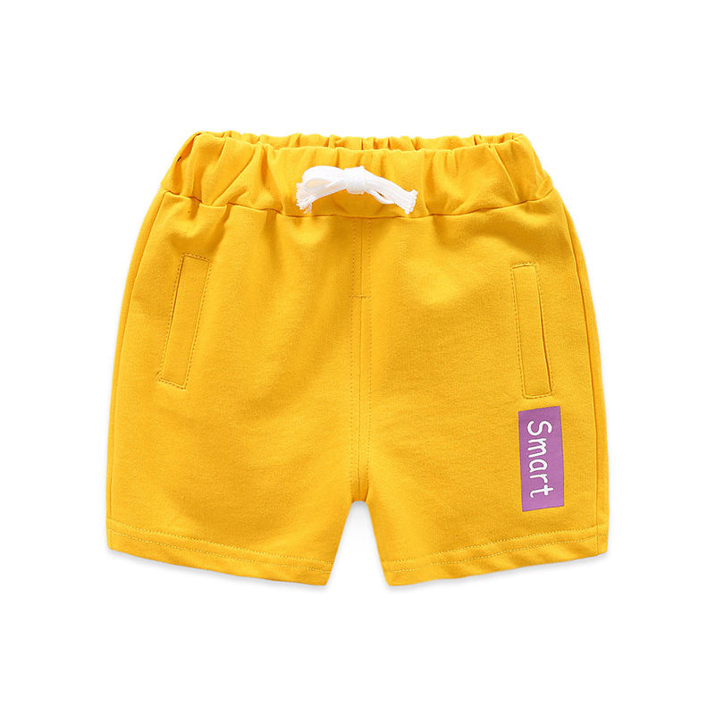New baby candy color cotton loose drawstring boy toddler beach shorts pants alkz8823