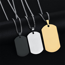 High quality logo laser engraved stainless steel dog tag necklace for men,military dog tags necklace wholesale