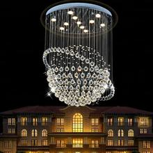 Indoor crystal pendant lights