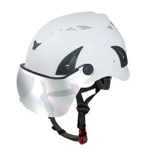 electrical safety helmet with mirror visor/smoked eye shield