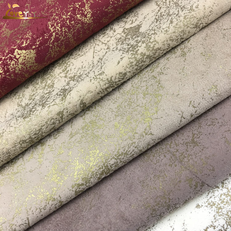 Special Printing Velvet Upholstery Sofa China Microfiber Manufacturer Foil Print Fabric