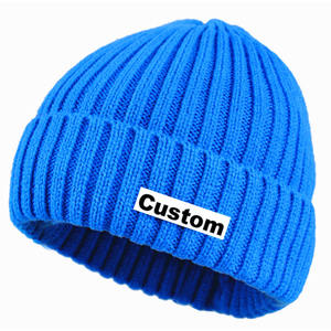 High Quality Custom Logo Plain Slouchy Women Beanie