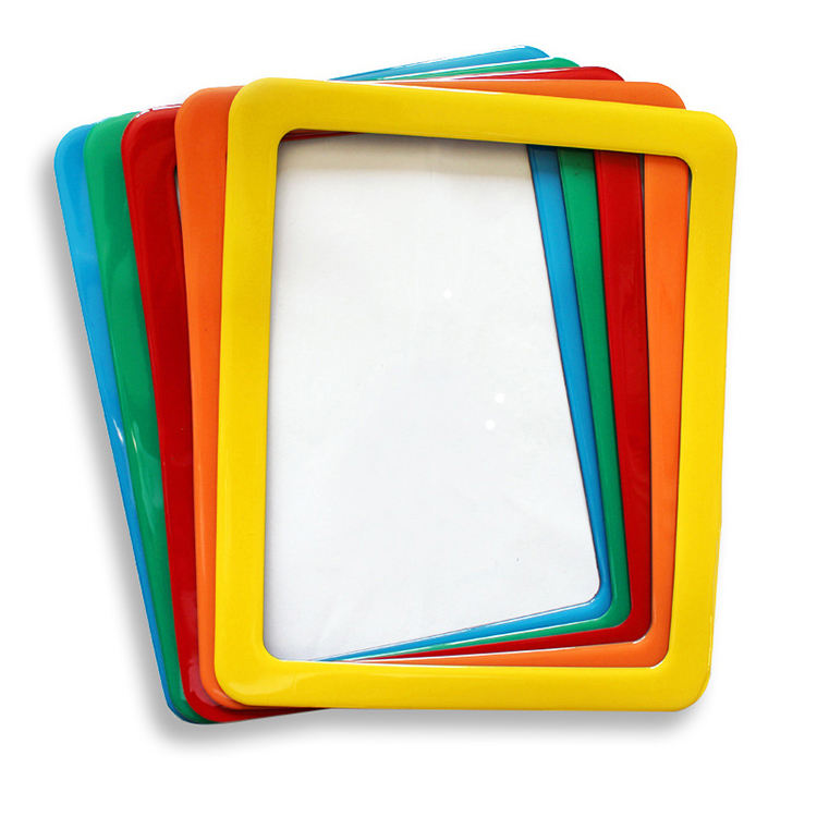 Colorful pvc rubber collage picture frames for home decoration