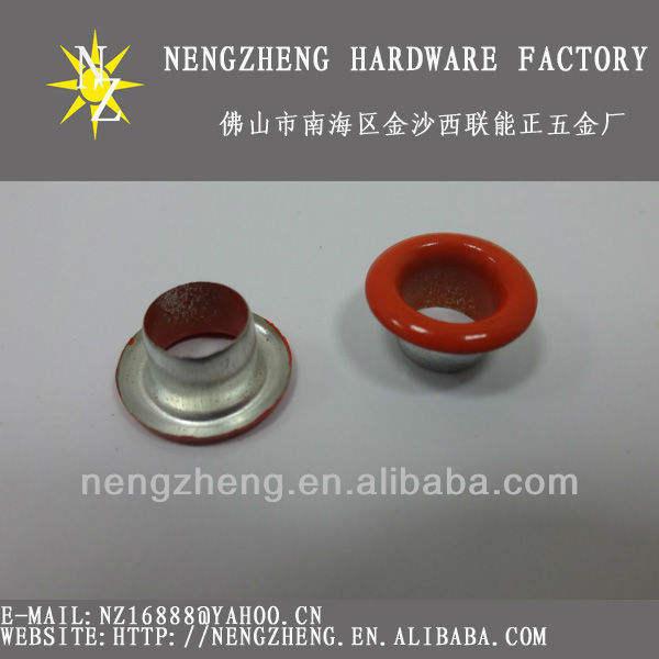9.5mm rojo precioso metal ojal redondo para la ropa de moda de diseño