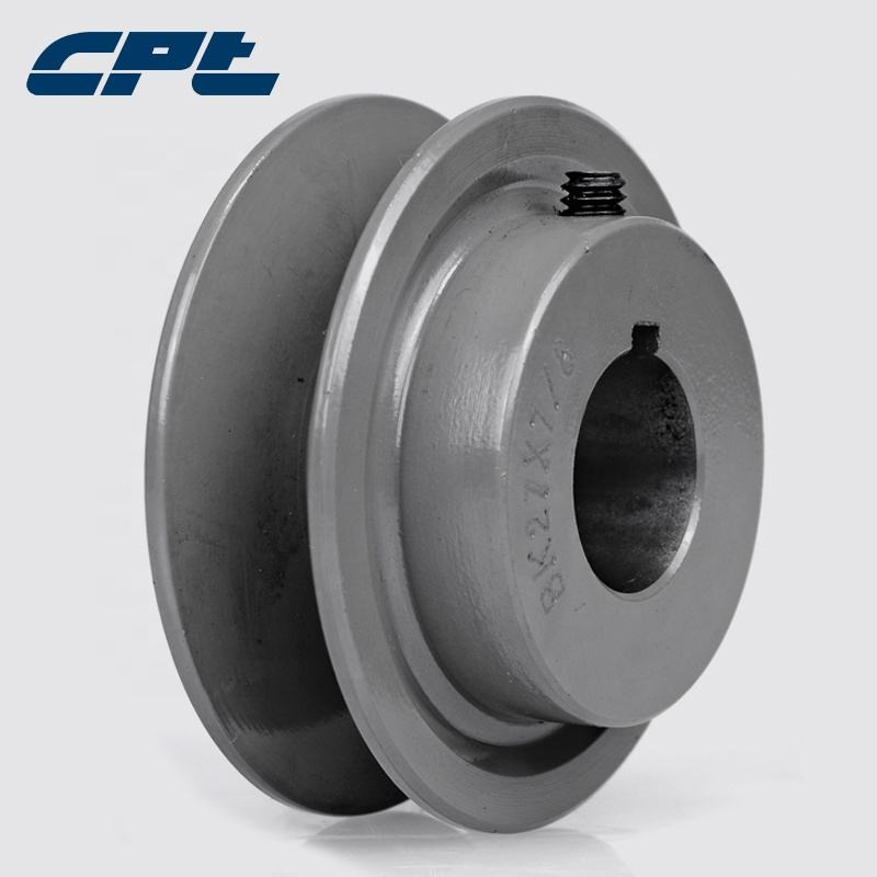 Hot sale cast iron one groove 3.15 inch outside diameter BK30 type v-belt sheave pulley for 4L, A,B, 5L belts