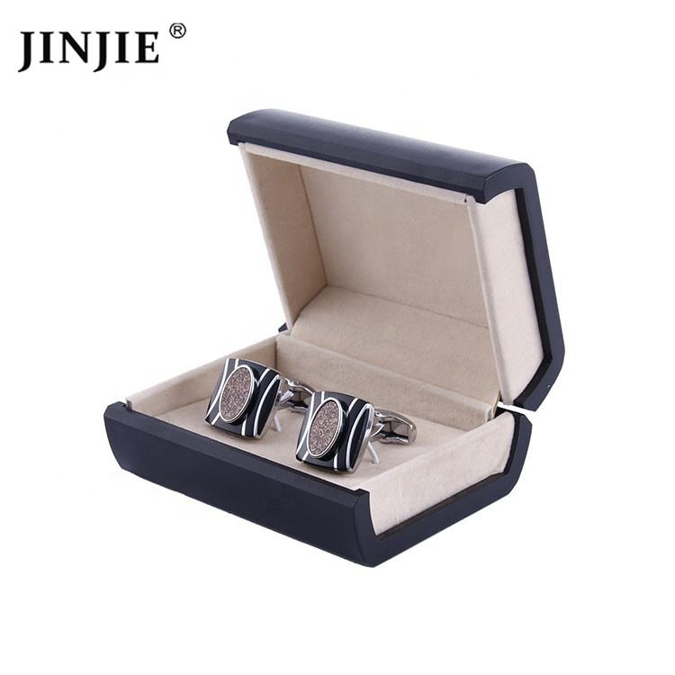 Luxury wholesale hot-selling plastic cufflink an tie clip box gift