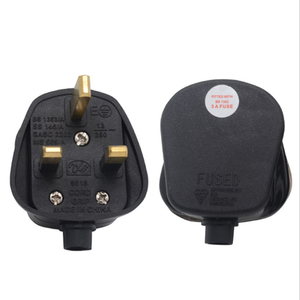 13A uk Zwart/Wit 3 Pin UK Mains Top Plug 13A 13 AMP Apparaat adapter socket 3 pin platte