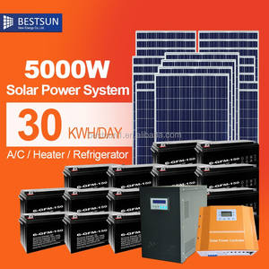 Bestsun solar company High power complete 5kw PV solar system supply solar grid inverter easy install 5kw solar system on grid