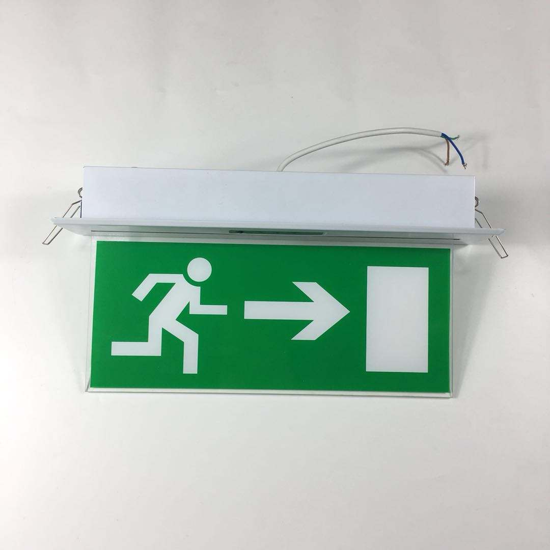 Aluminium professionele led brand noodverlichting exit sign exit lamp