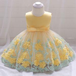 The First Communion Kids Little Baby Mini Frock Fancy Girl Party Dress L1845XZ