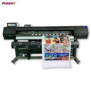 Promotie deze maand! 1800B Digitale behang drukmachine 1440dpi dx6 heads banner sticker flex printing eco solvent printer