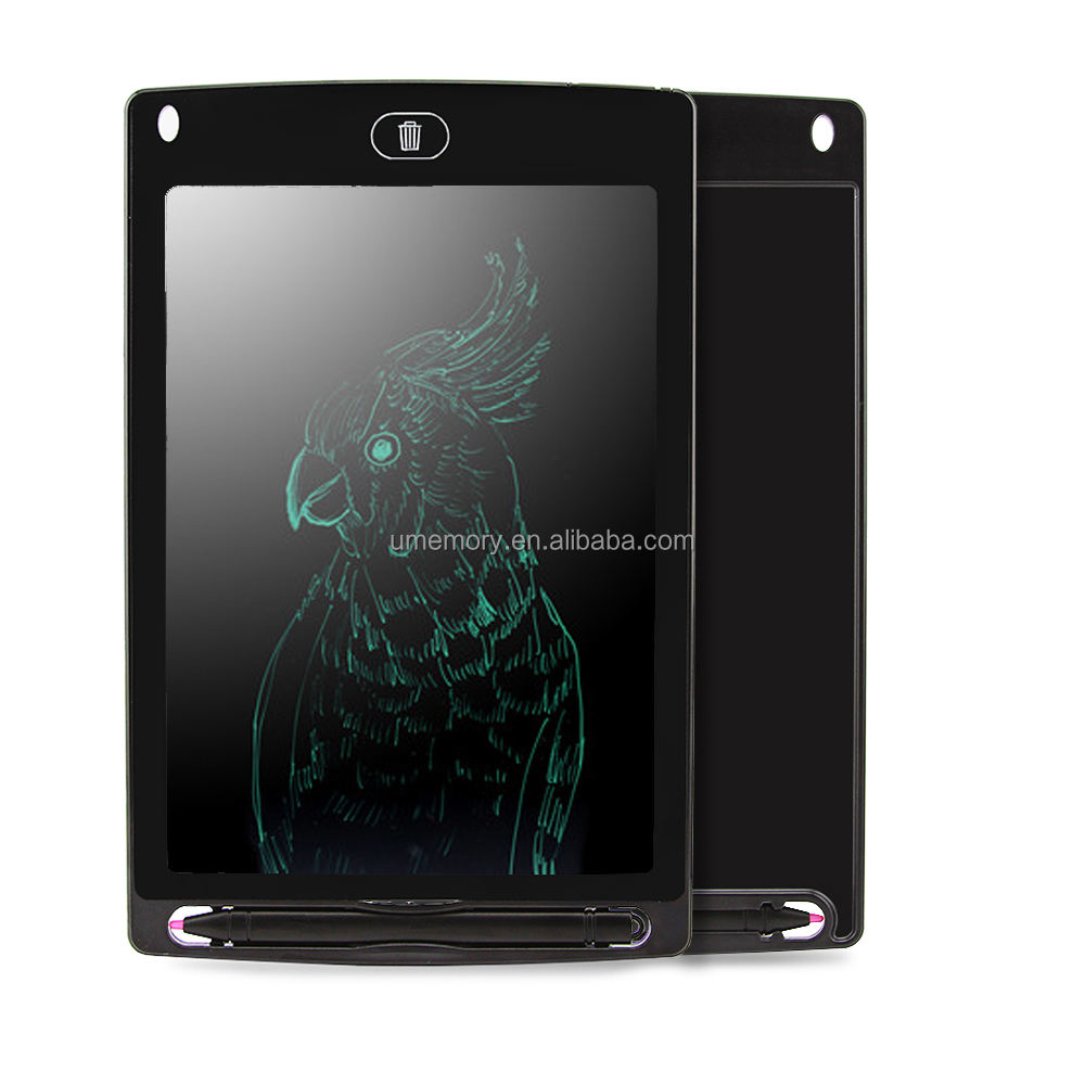 "Black 8.5"" Note Pad Electronic Drawing Tablet Graphics LCD Writing Board"