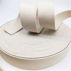 wholesale 38mm natural color thickness cotton webbing tape
