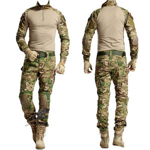 Tactical Frog Suit Camouflage Army Military Uniform With Knee Pad