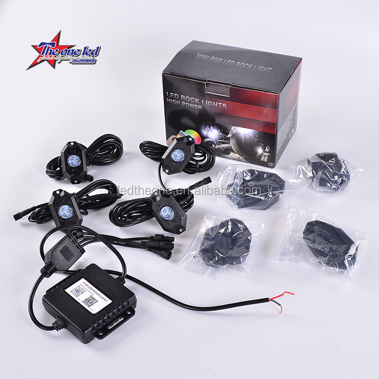 RGB 4 stks groene led rock light/4 pod rgbw led rock <span class=keywords><strong>lichten</strong></span> 4x4 suv atv/4 stks led licht <span class=keywords><strong>underbody</strong></span> waterdichte