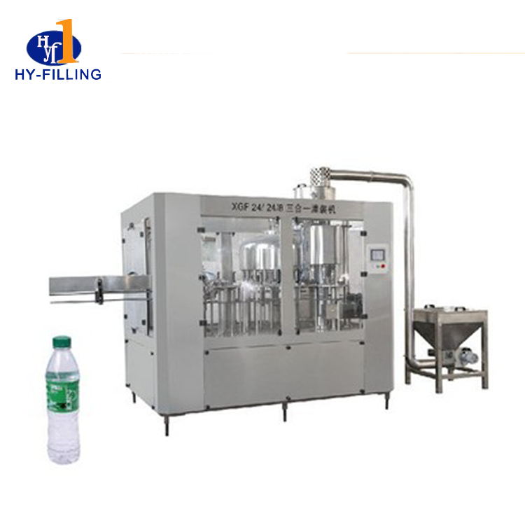 Filling machine for pure water or mineral water