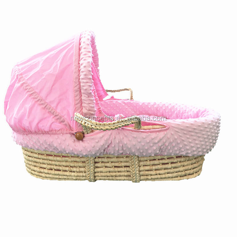 Top quality hot sales 100% handmade baby moses basket for baby sleep