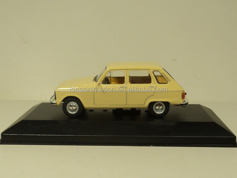 custom made 1:43 classic yellow die cast model renault 12 renault toy car