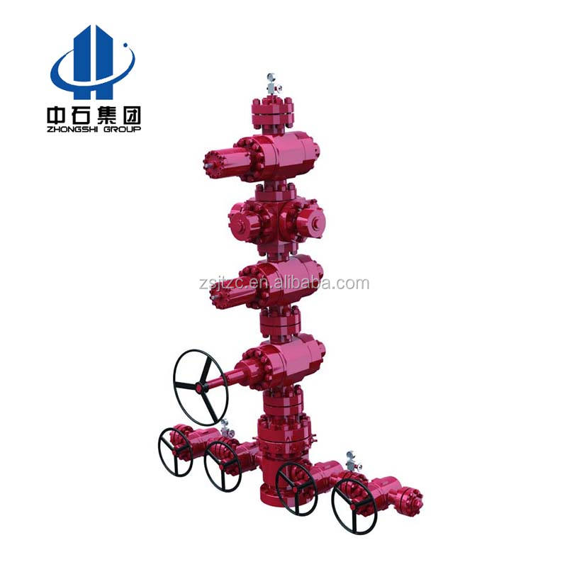 Oil and gas christmas tree for wellhead production equipment