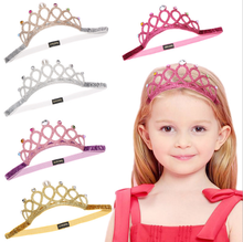 2021 New Design Rhinestone Pearl Princess Tiara Crown Headband For Girls Hair Ornaments
