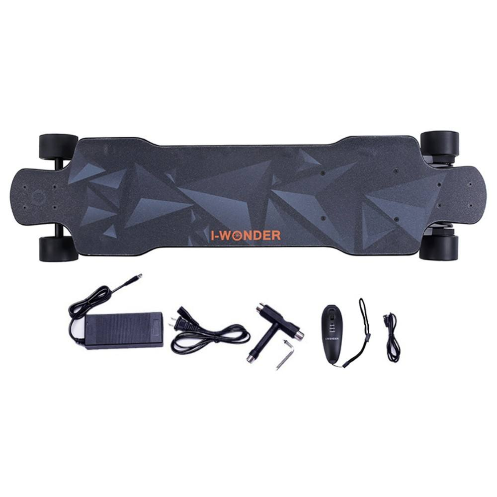 SK-F I-Wonder electric skateboard longboard flexible deck single-dual motors switchable belt driven