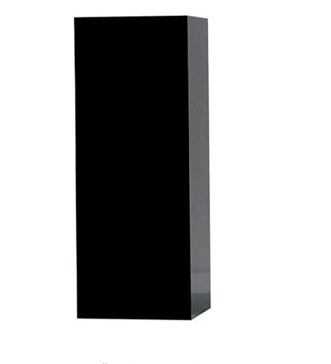 3D Displays 12.5cm High Quality Solid Black Acrylic Display Block/Plinth for Retail/Shop/Jewellery/Museum/Exhibition