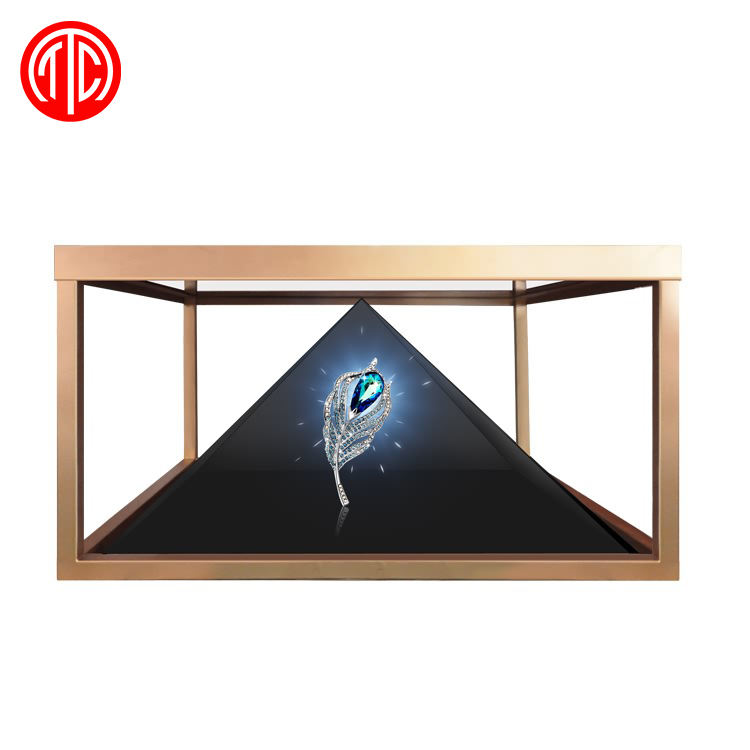 transparent LCD Full HD 3D Holographic showcase lcd screen display 3d holographic for advertising