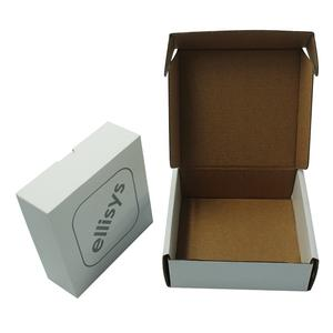 printed easy fold die cut corrugated mailer box parcel box double sided white corrugated cardboard