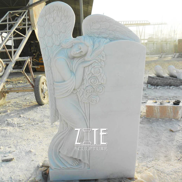 Classic Designs Angel Style american carved marble headstones