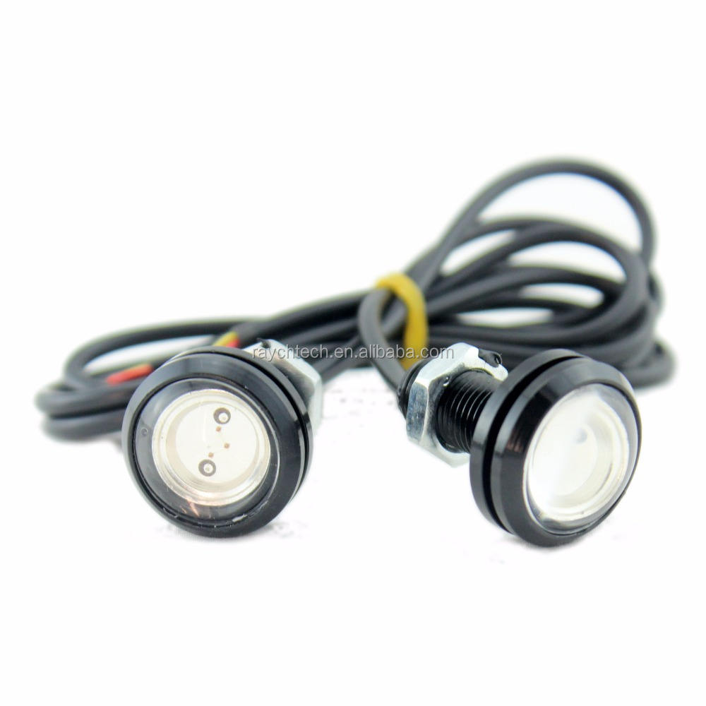 Newest LED eagle eye 3w 12v strobe warning light for vehicle 33mm daytime running light DRL 12v strobe eagle eye