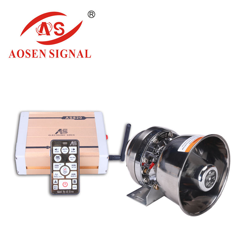 AS-820 300W 600W electronic auto siren horn alarm buzzer speaker with siren for square cars and fire truck