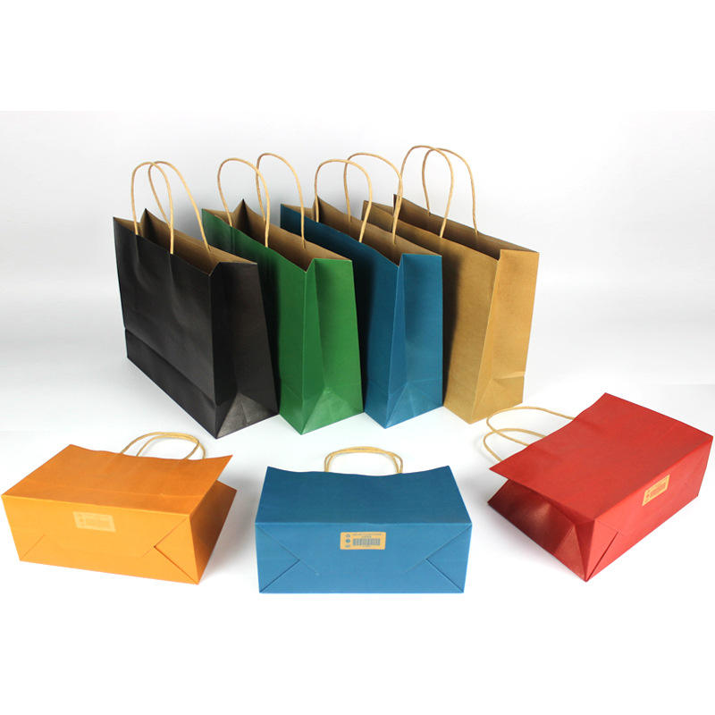 Offset Printing Surface Twisted Handle Craft Paper Bag With Logo
