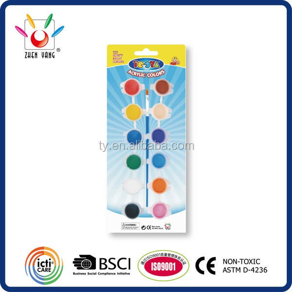 12 color 3G each acrylic color set and suncatcher to be a unit of good quality drawing set