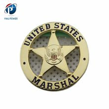 YP-CB-0152 Custom US Marshal Lapel Pin Badge With Screw and Nut