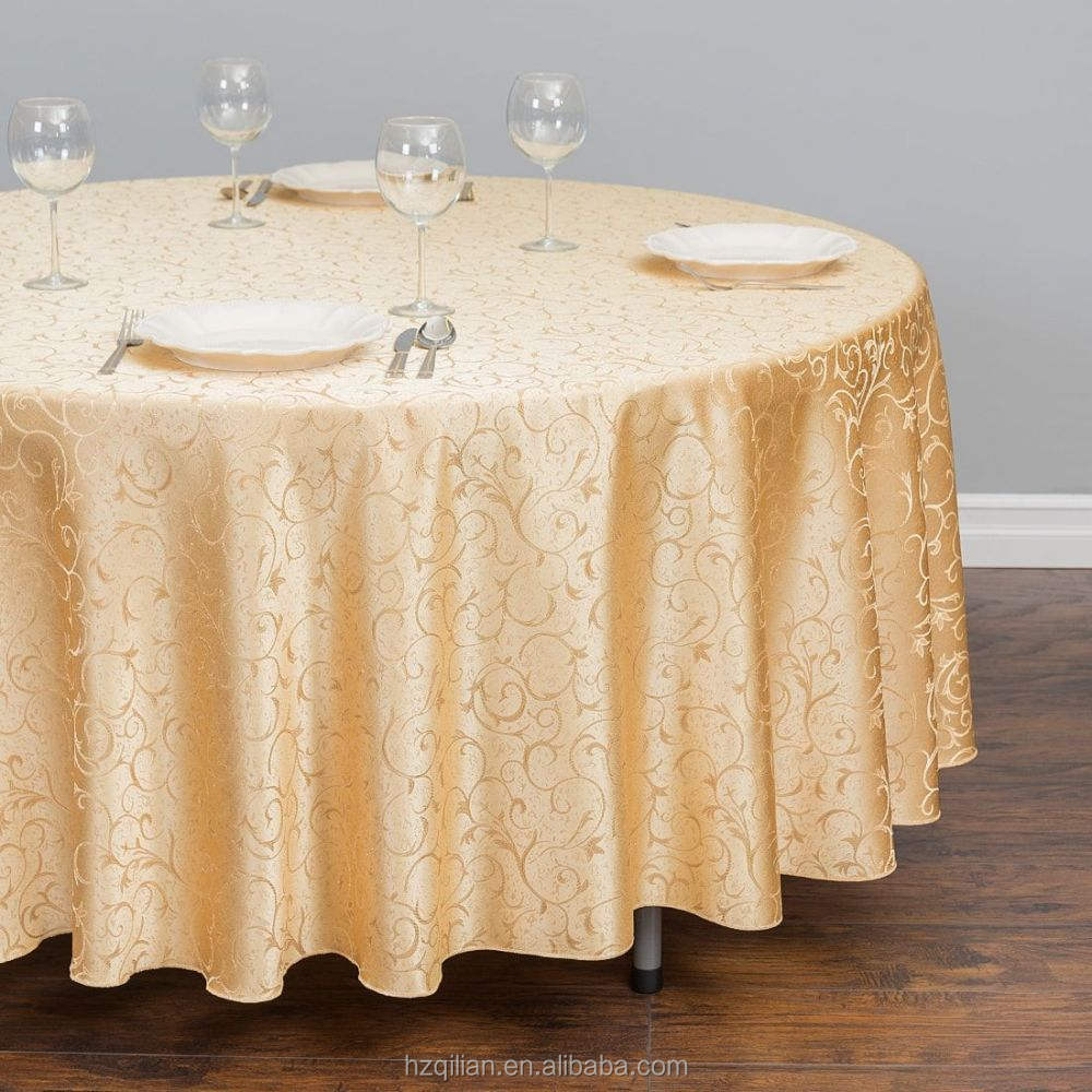 China Supplier Wholesale Quality Vinyl Jacquard Tablecloth