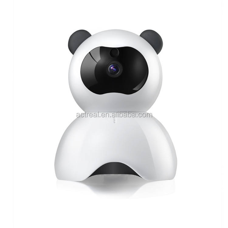 Popular Cute Panda Mini Camera Support SD Card with Cloud Storage Two Way Talking Night Vision Camera Indoor Spy Camera Hidden