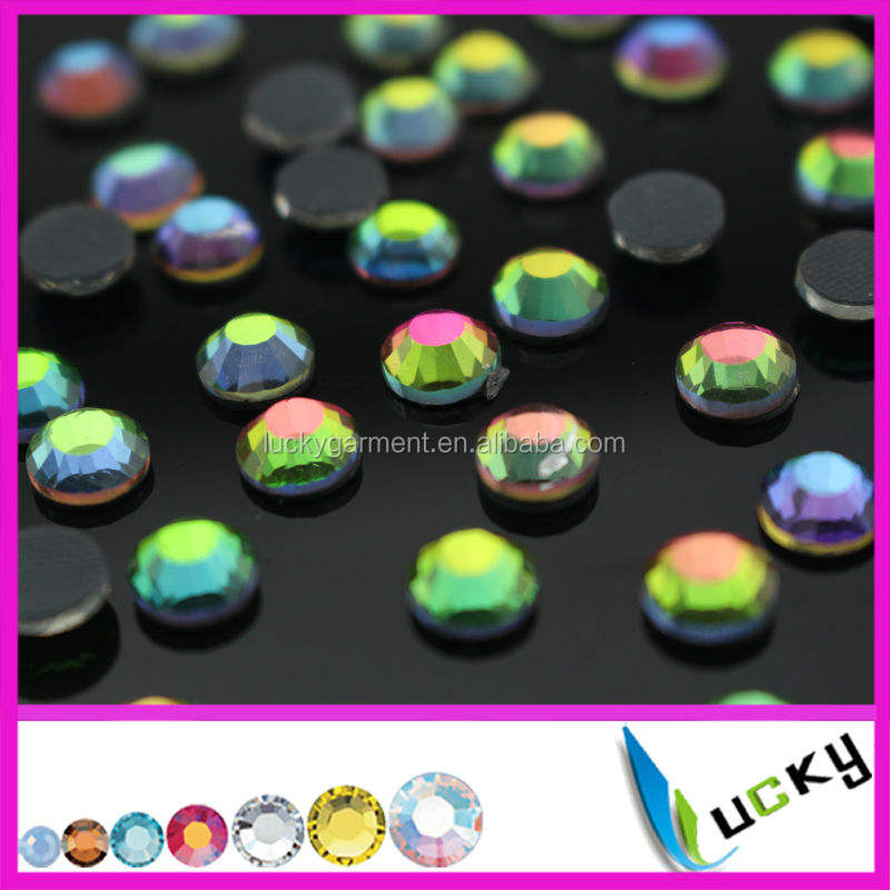 2015 new design chameleon stone hotfix rhinestones with strong glue
