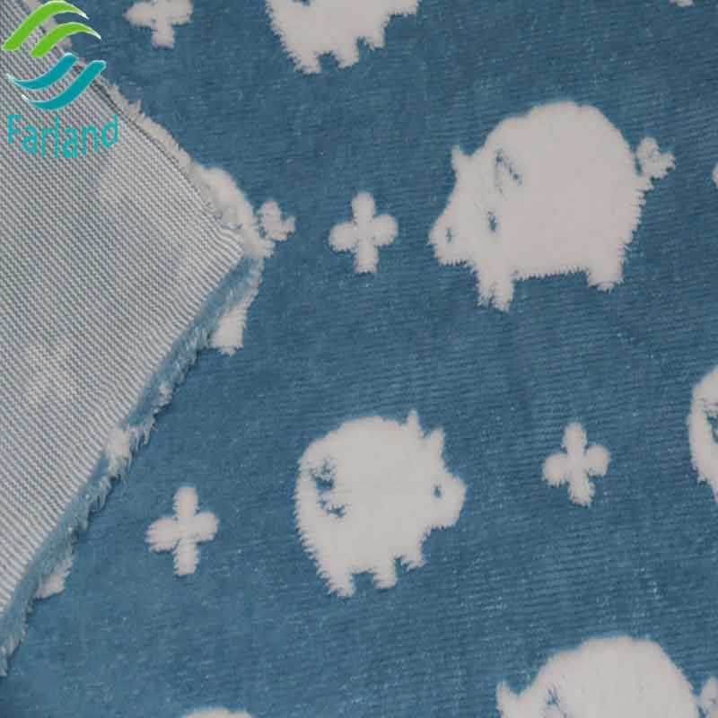 China factory wholesale pig pattern printed sherpa fleece fabric