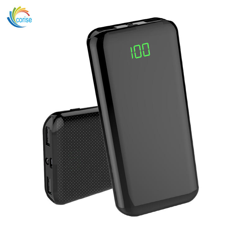 Best sellers10000mAh portable li-polymer external battery fast charger 5V 2A dual USB LED OEM LOGO