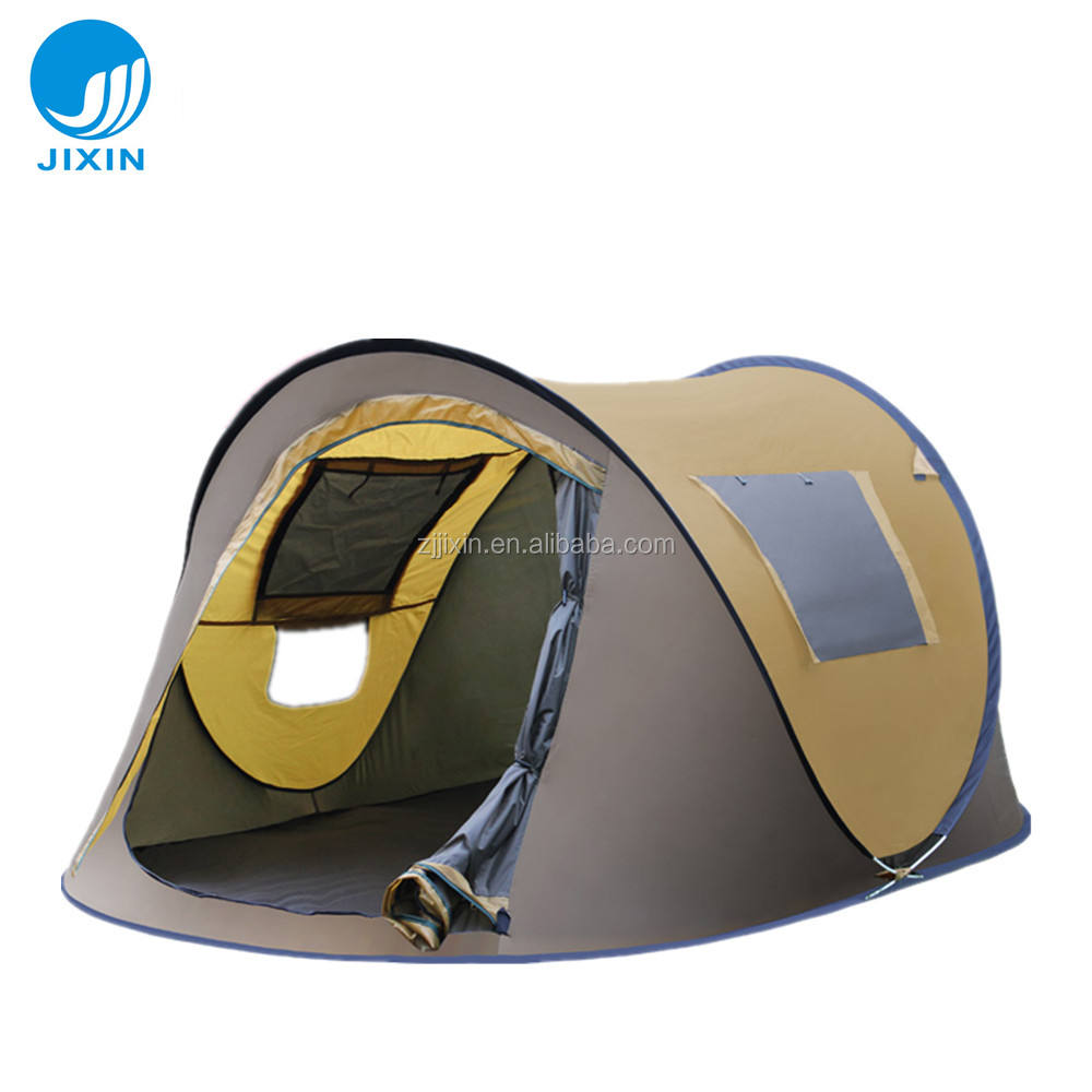 Outdoor portable folding popup 3-4 Person Wind resistant camping tent